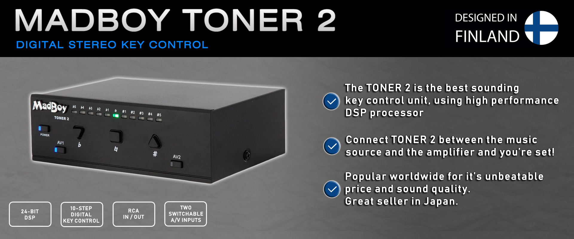 TONER 2 DIGITAL STEREO KEY CONTROL