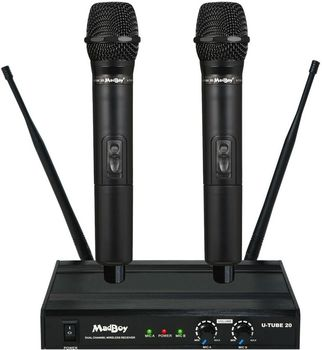 MadBoy® U-TUBE 20 wireless dual channel karaoke microphone set