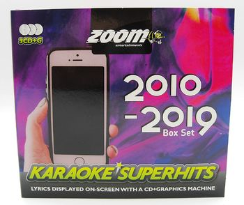 Zoom Karaoke CD+G - 2010-2019 Superhits - Triple CD+G Karaoke Pack