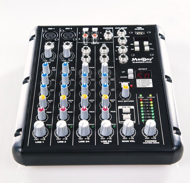 MADBOY BLENDER-422U KARAOKE/AUDIO MIXER + USB PLAYER