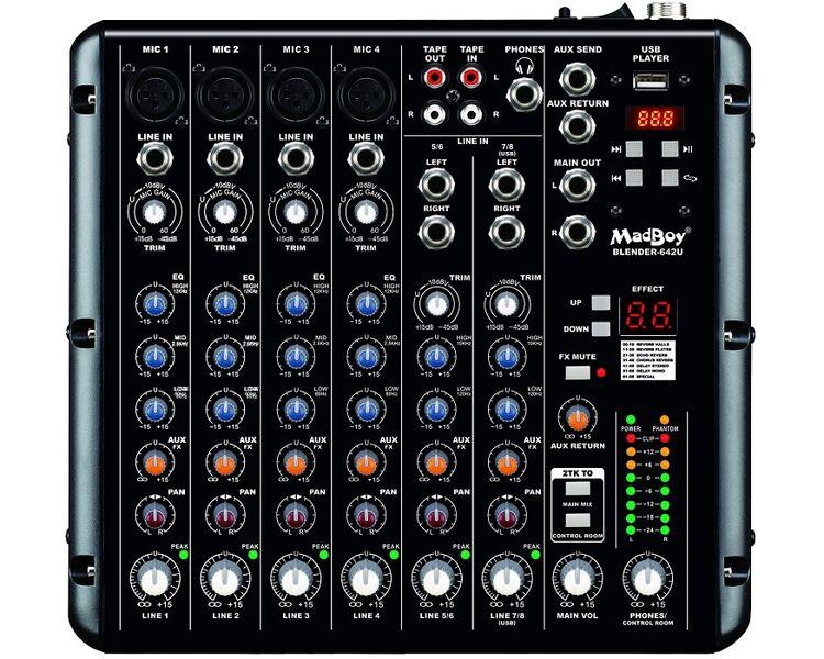 MADBOY BLENDER-642U KARAOKE/AUDIO MIXER + USB PLAYER