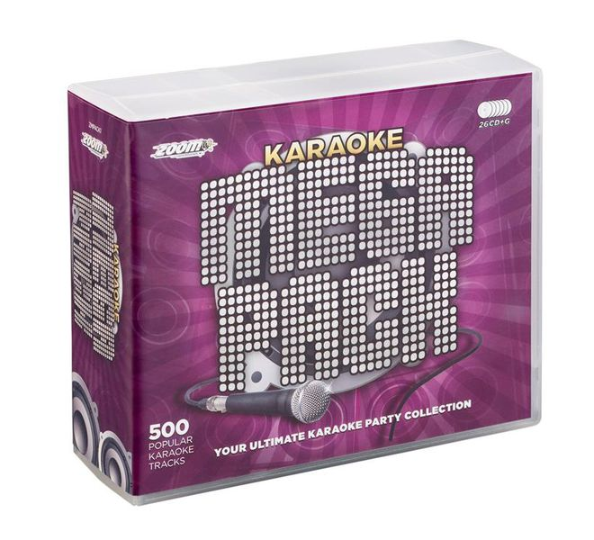Zoom Karaoke 500 Song Mega Pack (26 CDG's)